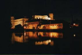 The night castle Jindrichuv Hradec in the Czech republic - entrance in Photogallery