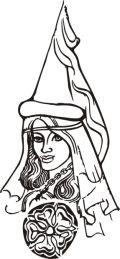 Bílá paní - kresba Josef Jícha
