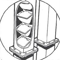 korečkový elevátor KBE Kongskilde - průřez