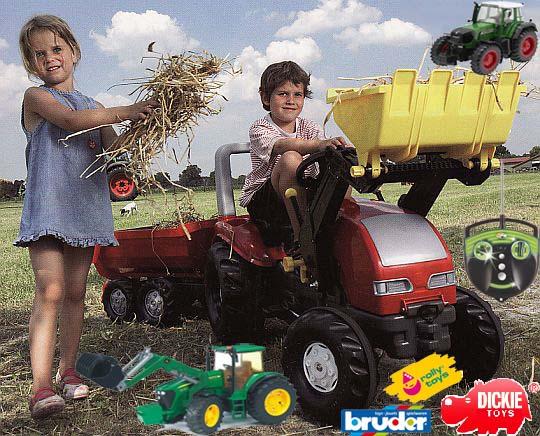 Hračky pro děti - traktory Bruder, Dickie, Rolly Toys, Big
