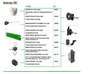 tyče a izolátory elektrických ohradníků OLLI